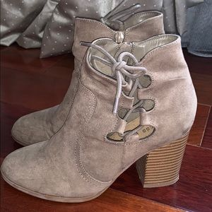 Express Taupe Booties